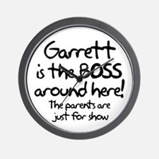 Garrett is the Boss Wall Clock