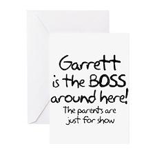 Garrett is the Boss Greeting Cards (Pk of 10)