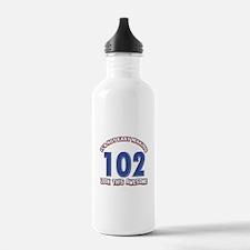 102 year old birthday designs Water Bottle