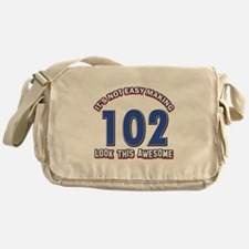 102 year old birthday designs Messenger Bag