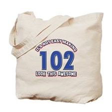 102 year old birthday designs Tote Bag