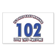 102 year old birthday designs Decal