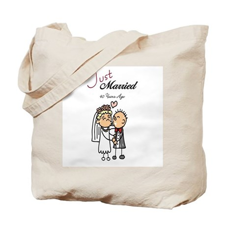 Just Married 40 years ago Tote Bag