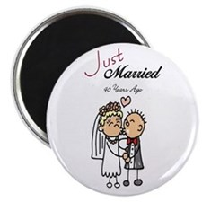 Just Married 40 years ago Magnet
