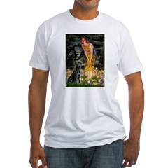 Fairies & Black Lab Fitted T-Shirt