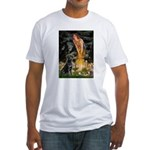 Fairies & Black Lab Fitted T-Shirt