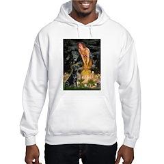 Fairies & Black Lab Hooded Sweatshirt