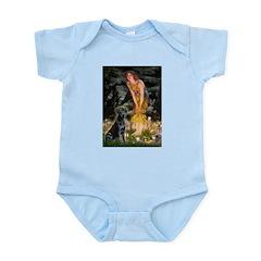Fairies & Black Lab Infant Bodysuit