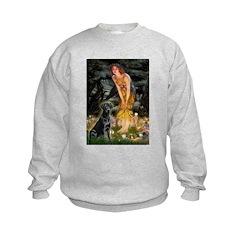 Fairies & Black Lab Sweatshirt