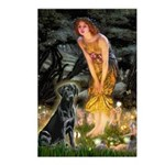Fairies & Black Lab Postcards (Package of 8)