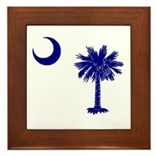 Palmetto and Crescent Framed Tile
