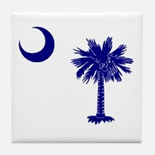 Palmetto and Crescent Tile Coaster