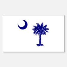 Palmetto and Crescent Rectangle Decal