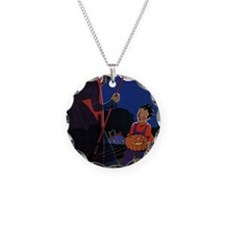 Vintage Halloween Witch Necklace
