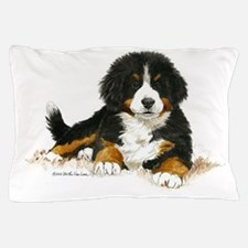 Bernese Mountain Dog Bright Eyes Pillow Case