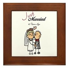 Just Married 45 years ago Framed Tile
