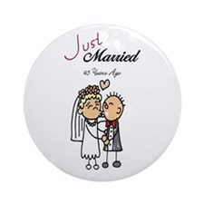 Just Married 45 years ago Ornament (Round)