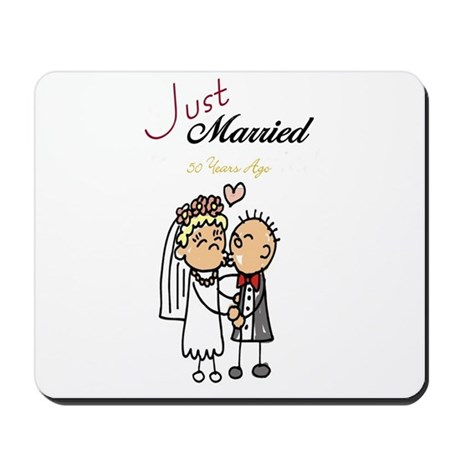 Just Married 50 years ago Mousepad