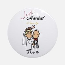 Just Married 50 years ago Ornament (Round)