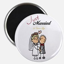 "Just Married 50 years ago 2.25"" Magnet (10 pack)"
