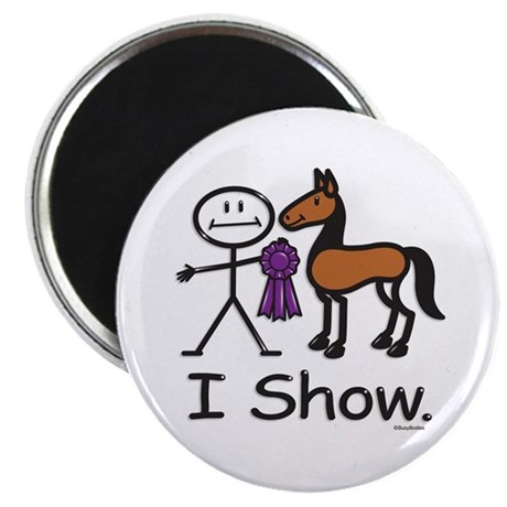 """Horse Show 2.25"""" Magnet (100 pack)"""