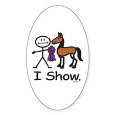 Horse Show Oval Decal