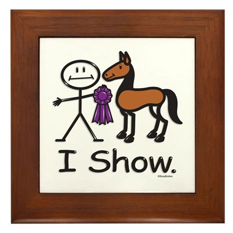 Horse Show Framed Tile