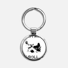 Brazilian Jiu Jitsu T-Shirt Round Keychain