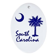 South Carolina Palmetto Oval Ornament