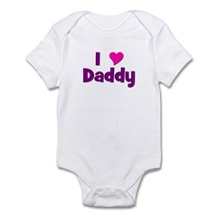 I love (heart) Daddy Infant Bodysuit