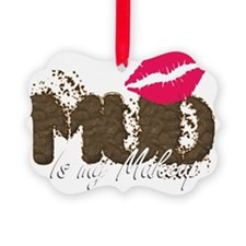 Mud is My Makeup_black Ornament