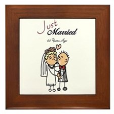 Just Married 60 years ago Framed Tile