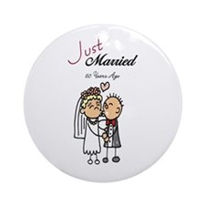 Just Married 60 years ago Ornament (Round)