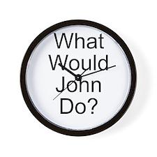 What Would John Do? Wall Clock