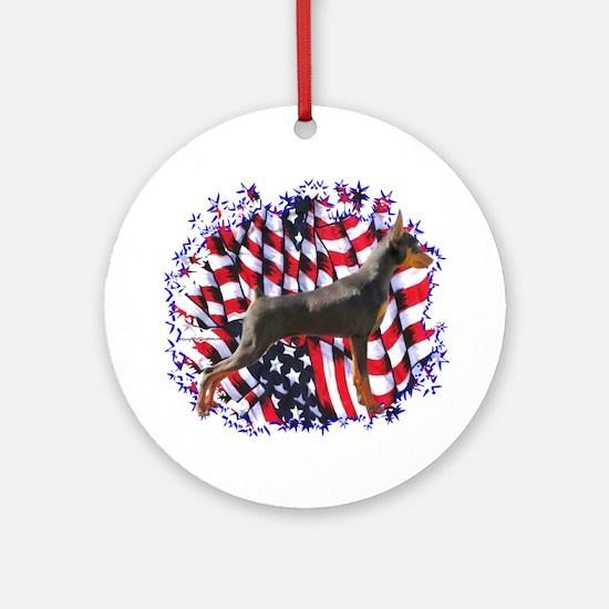 MinPin Patriot Ornament (Round)