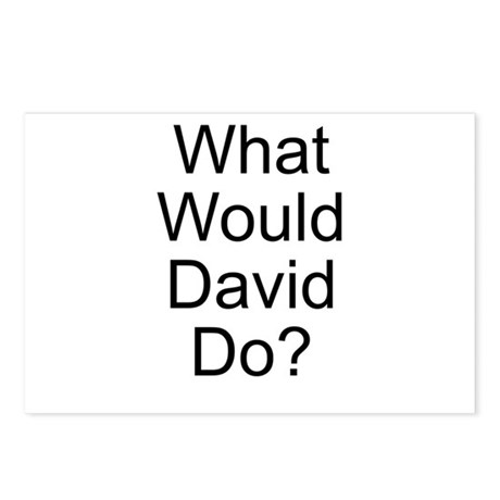 What Would David Do? Postcards (Package of 8)