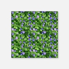 """Periwinkle Blooms Square Sticker 3"""" x 3"""""""