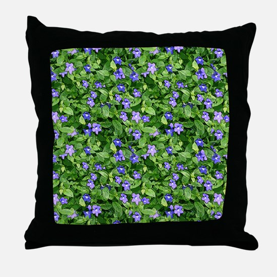 Periwinkle Blooms Throw Pillow