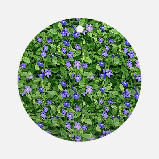 Periwinkle Blooms Round Ornament