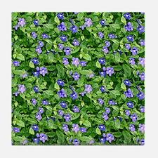 Periwinkle Blooms Tile Coaster