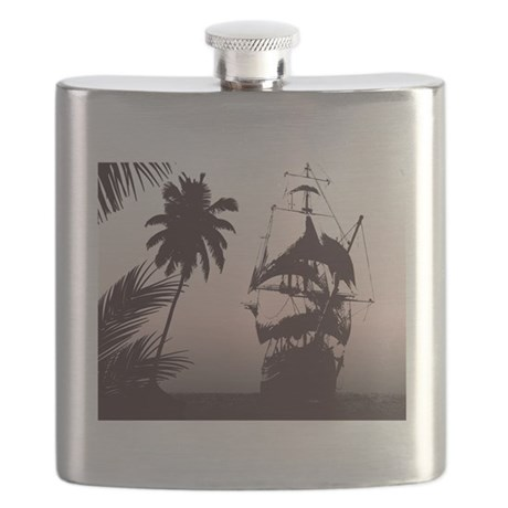 Pirate Ship Flask