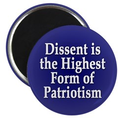 Dissent is Patriotism Magnet (10 pack)