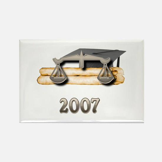 Law Grad 2007 Rectangle Magnet (100 pack)