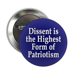 Dissent is Patriotism Button (10 pack)