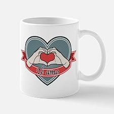 blue heart-Te amo– Mug