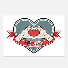blue heart-Te amo– Postcards (Package of 8)