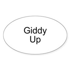Giddy Up Oval Decal