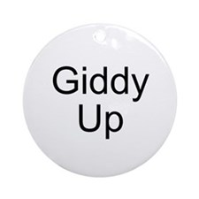 Giddy Up Ornament (Round)