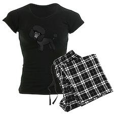 Cute Poodle Black Coat Pajamas