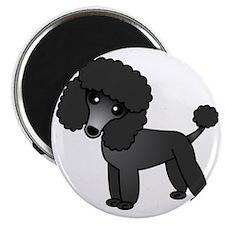 Cute Poodle Black Coat Magnet